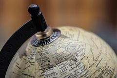 Vintage earth world globe north america stock photography