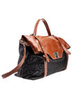 Black and brown womens bag  on white background. Stock Photos