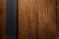 Black and brown wooden background Stock Images