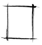 black brush frame Στοκ φωτογραφία με δικαίωμα ελεύθερης χρήσης