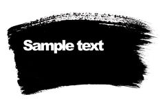 Black brush stroke. With space for your own text Royalty Free Stock Photography