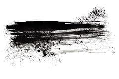 Black brush stroke Stock Images