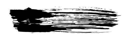 Black brush stroke pattern Royalty Free Stock Photo