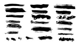 Black brush strokes Royalty Free Stock Photography