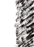 Black brush strokes with edge Stock Photography