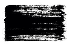 Black brush strokes of paint on white background Royalty Free Stock Images