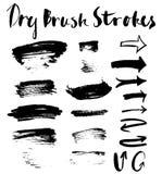 Black brush strokes Royalty Free Stock Photography