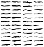 Black brush strokes Stock Image