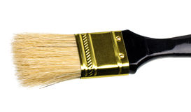 Black brush to paint isolated on white Stock Photo