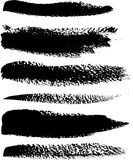 Black brush vector strokes set Stock Photography