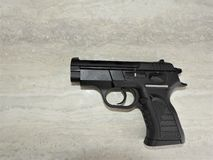 Black brutal tanfoglio pistol chambered in 9mm stock photo