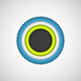 Black Bubble Badge Stock Photo
