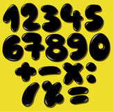 Black bubble numbers. Vector black bubble numbers set Royalty Free Illustration