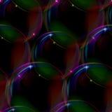 black bubbles seamless Vektor Illustrationer