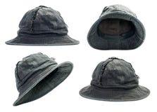 Black bucket hat Stock Image