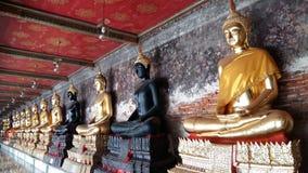 Black Buddah. Buddah Statues in Thailand royalty free stock photos