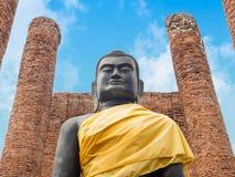 Black Buddha at Ayutthaya-Thailand Royalty Free Stock Photography