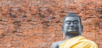 Black Buddha at Ayutthaya-Thailand Stock Photos