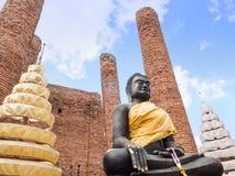 Black Buddha at Ayutthaya-Thailand Stock Photography