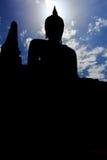 Black Buddha city Sukothai shadow , Thailand ,  Stock Photography