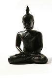Black Buddha ornament on white, Thailand. Royalty Free Stock Images