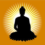 Black buddha silhouette vector illustration Royalty Free Stock Images