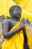 Black buddha statue Stock Photography