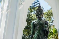 Black Buddha Statue in Wat Ta Kahnun temple, Kanjanaburi , Thail Royalty Free Stock Photo