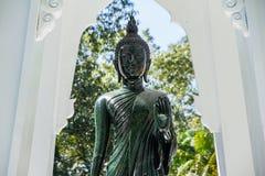 Black Buddha Statue in Wat Ta Kahnun temple, Kanjanaburi , Thail Royalty Free Stock Images