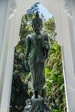 Black Buddha Statue in Wat Ta Kahnun temple, Kanjanaburi , Thail Royalty Free Stock Photos