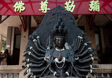 Black budha Stock Photography