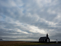 Black Budir Church on Snaefellsnes peninsula in Iceland Royalty Free Stock Image