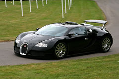 Black bugatti veyron. Driving on track at uk goodwood festival of speed - 13 july 2008 Royalty Free Stock Photos