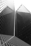 Black Building. Black and white building in Houston, Texas Royalty Free Stock Photos