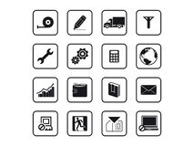 Black building icons Stock Image
