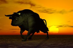 Black Bull Stock Images