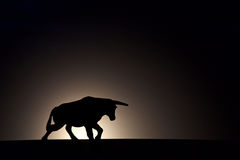 Black bull silhouette Royalty Free Stock Photo