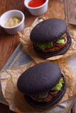 Black burgers Stock Photo