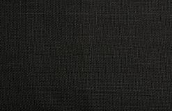 Black burlap jute canvas background texture Stock Photography