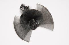 Black burlesque hat Stock Image
