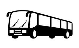 Black bus silhouette Stock Photos