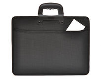 Black business briefcase Stock Images