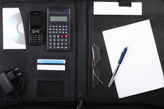 Black Business Briefcase Open Wide Royalty Free Stock Image