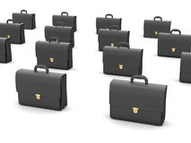 Black business briefcases. On white background Royalty Free Stock Image