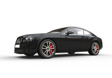 Black Business Car. High Resolution Render Of A 3D cars Royalty Free Stock Photography