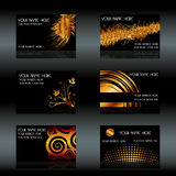 Black business cards Stock Photos