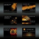 Black business cards. Set, eps10  illustration Stock Photos