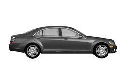 Black business class car side view Royalty Free Stock Photography
