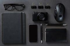 Black business desk Stock Image