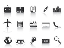 Black business icons Royalty Free Stock Photos